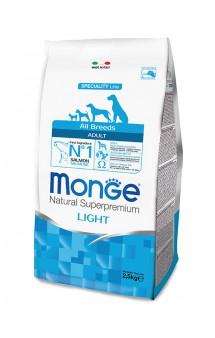 Monge Dog Speciality Adult Light Salmon and Rice, низкокалорийный корм для собак Лосось с Рисом / Monge (Италия)