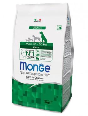 Monge Dog Maxi Adult Rich in Chicken, корм для собак крупных пород с Курицей / Monge (Италия)