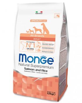 Monge Dog Speciality Adult Salmone and Rice,корм для собак Лосось с Рисом / Monge (Италия)