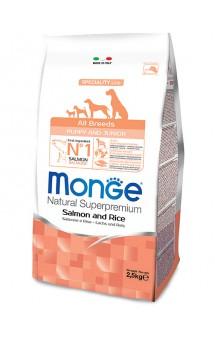 Monge Dog Speciality All Breeds Puppy and Junior Salmon and Rice, корм для щенков с Лососем и Рисом / Monge (Италия)