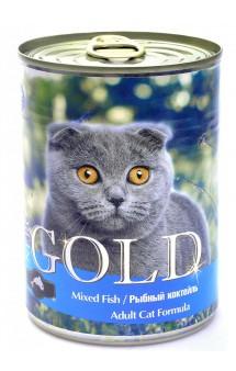 "Mixed Fish, ""Рыбный коктейль"", кусочки в желе для кошек / Nero Gold (Нидерланды)"