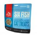 ORIJEN Cat Six Fish, лакомство для кошек, с Рыбой / Champion Freeze Dry (Канада)