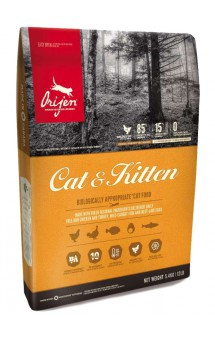 ORIJEN Cat and Kitten, корм для кошек и котят всех пород / Champion Petfoods (Канада)