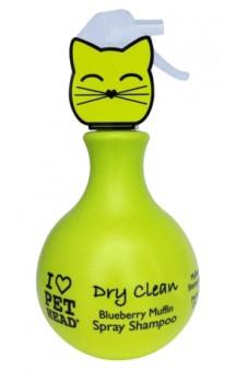 Dry Clean, Черничный шампунь-спрей без смывания для кошек / Pet Head ( США)