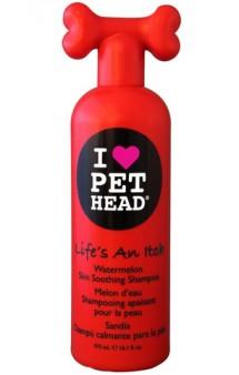 LIFE'S AN ITCH Жизнь без Зуда  Арбузный шампунь для собак с сухой шерстью и раздраженной кожей,овсянка и алоэ вера / Pet Head ( США)