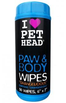 """Paw and Body, """"Цитрусовый бум"""", салфетки гипоаллергенные для лап и тела / Pet Head ( США)"""