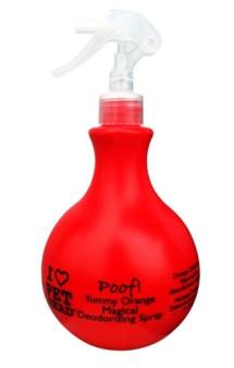 """Poof, """"Пуф"""", апельсиновый дезодорирующий спрей, для шерсти собак / Pet Head ( США)"""