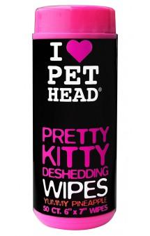 "Pretty Kitty, ""Вкусный ананас"", салфетки гипоаллергенные от линьки у кошек / Pet Head ( США)"