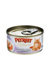Petreet Natura, куриная грудка с креветками, консервы для кошек / Petreet (Таиланд)
