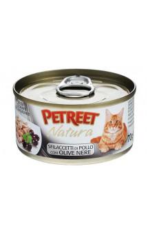 Petreet Natura, Куриная грудка с оливками, консервы для кошек / Petreet (Таиланд)