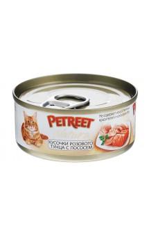 Petreet Natura, Куриная грудка с тунцом, консервы для кошек / Petreet (Таиланд)