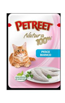 Petreet Natura Pesce Bianco Белая рыба, паучи для кошек / Petreet (Таиланд)