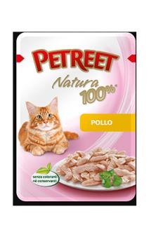 Petreet Natura Pollo, Курица, паучи для кошек / Petreet (Таиланд)