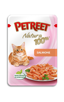 Petreet Natura Salmone Лосось, пауч для кошек / Petreet (Таиланд)