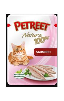 Petreet Natura Sgombro, Макрель, паучи для кошек / Petreet (Таиланд)