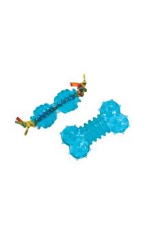 """Orka Petite Chew Pair Набор из 2-х игрушек для собак мелких пород """"Орка-косточка + Гантеля"""",ультра-мини / Petstages (США)"""