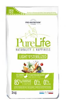 Pure Life Light and/or Sterilised Корм для стерилизованных или склонных к полноте собак / Pro-Nutrition Flatazor (Франция)