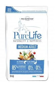 Pure Life Medium Adult Корм для взрослых собак средних пород / Pro-Nutrition Flatazor (Франция)