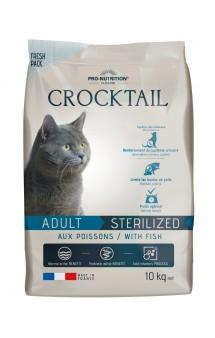 Crocktail Adult Sterilised with Fish Корм для стерилизованных кошек, с Рыбой / Pro-Nutrition Flatazor (Франция)