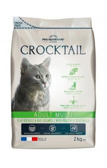 Crocktail Adult Multi Poultry and Vegetables, Корм для профилактики образования комков шерсти в желудке кошек, с Птицей / Pro-Nutrition Flatazor (Франция)