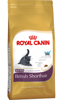 BRITISH SHORTHAIR Kitten,  корм для котят породы британской короткошерстной / Royal Canin (Франция)