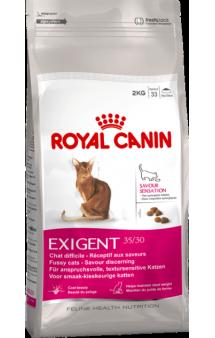 EXIGENT 35/30 Savour sensation, корм для привередливых кошек / Royal Canin (Франция)