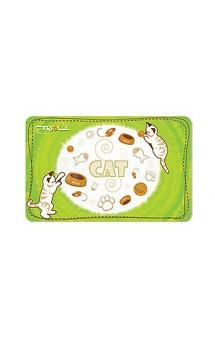 """Коврик под миску """"Cat"""", с нескользящим покрытием / Triol (Китай)"""