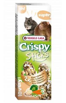 Crispy, палочки с рисом и овощами для хомяков и крыс / Versele-Laga (Бельгия)