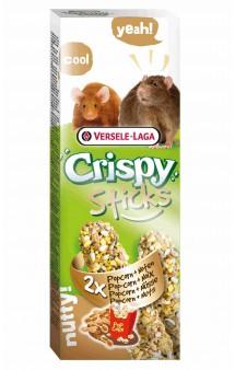 Crispy, палочки с попкорном и орехами для крыс и мышей / Versele-Laga (Бельгия)