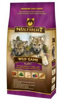 Wolfsblut Wild Game Puppy, Дикая игра, корм для щенков с Куропаткой, диким Голубем и бататом / Wolfsblut (Германия)