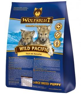 Wild Pacific Large Breed Puppy, Дикий океан, корм для щенков крупных пород / Wolfsblut (Германия)