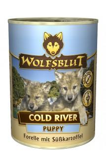 Wolfsblut Cold River Puppy, Холодная река, консервы для щенков с Форелью и Бататом / Wolfsblut (Германия)