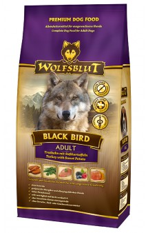 Wolfsblut Black Bird Adult, Черная птица корм для собак, с Индейкой / Wolfsblut (Германия)
