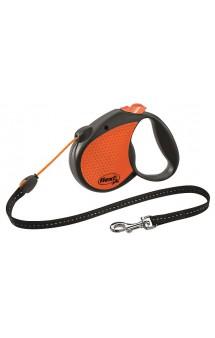 Limited Edition Neon Reflect, рулетка для собак, оранжевая, трос, 5 м / flexi (Германия)