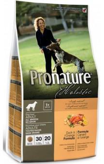 Pronature Holistic Dog Duck and Orange, корм для собак Утка с Апельсином / Pronature (Канада)