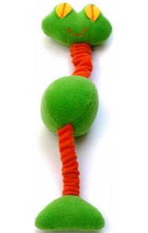 Игрушка для собак из флиса Лягушка  на резинке с пищалками / OSSO Fashion (Россия)