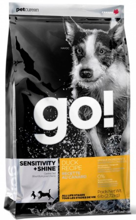 GO! SENSITIVITY + SHINE DUCK Recipe, корм для собак с Уткой / Petcurean (Канада)