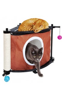 Игровой комплекс с когтеточкой для кошек: Сонное царство. Sleepy Corner/ Kitty City (США)