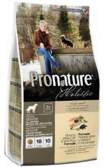 Pronature Holistic Dog Oceanic White Fish and Wild Rice, облегченный корм для собак с Рыбой и Рисом / Pronature (Канада)