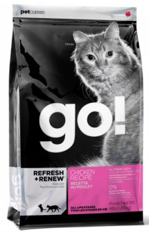 GO! REFRESH + RENEW Chicken Recipe, корм для котят и кошек с Курицей / Petcurean (Канада)