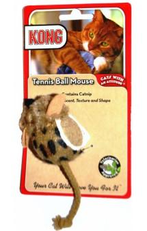 Игрушка для кошек Мышь с теннисным мячом / KONG (США)