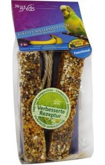Палочки для волнистых попугаев с маком и бананом / JR FARM (Германия)