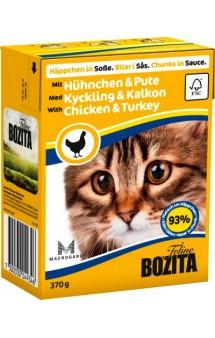 Bozita Chunks in Sauce with Chicken & Turkey / BOZITA (Швеция)